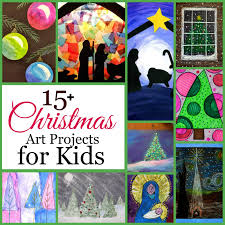 the unlikely homeschool 15 christmas art projects for kids