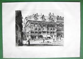 bureau des finances rouen original etching by toussaint rouen finance bureau cour des