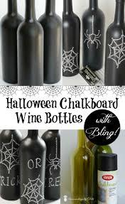 halloween wine labels halloween chalkboard wine bottles with bling