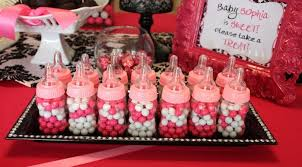 baby shower girl decorations black and pink baby shower decorations home party theme ideas
