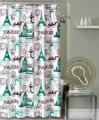 Window And Shower Curtain Sets Eiffel Tower Shower Curtain Ebay