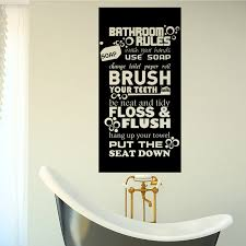 quotes for home design art design bathroom rules for kids quote wall sticker home decor
