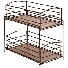 2 tier cabinet organizer seville classics 2 tier sliding basket kitchen cabinet organizer