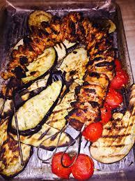 turkish kebabs greek yogurt marinated chicken thighs served w