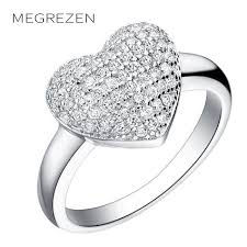 bague mariage or blanc jewelry wedding rings design silver plated ring