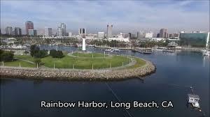 Long Beach California Map Rainbow Harbor Long Beach Ca Aerial View From Dji Phantom 3 Pro