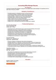 office manager resumes accounting office manager resume sle best format