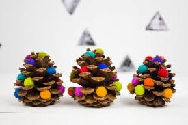 pom pom pine cone ornaments
