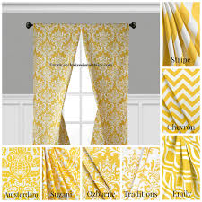 modern yellow curtain panels modern geometric chevron damask