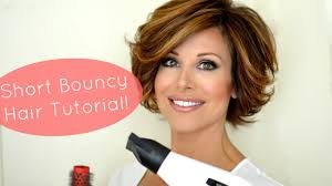bouncy short hair tutorial youtube