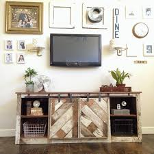 Media Cabinets With Doors White Grandy Sliding Door Console Diy Projects