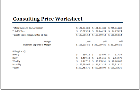 ms excel consulting price worksheet template word u0026 excel templates