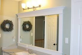 Framed Bathroom Mirrors Ideas Modern Home Design