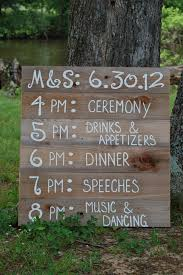 Wedding Itinerary Reception Wedding Schedule Itinerary Menu Board
