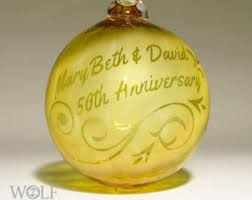 anniversary christmas ornament 50th anniversary ornament etsy