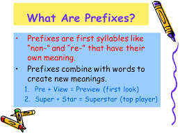 the most frequently used prefixes and suffixes word beginnings and