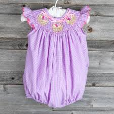 easter egg basket bubble purple gingham smocked auctions
