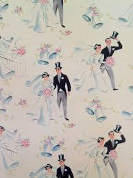 reversible vintage wrapping paper wedding new