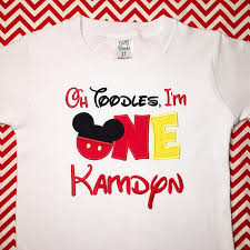 oh toodles i m one mickey mouse 1st birthday shirt