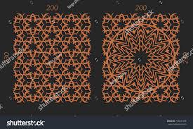 laser cutting set woodcut vector trellis stock vector 729841486