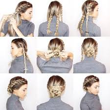 on the go hairstyles best 25 easy braided updo ideas on pinterest easy updo