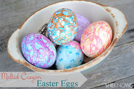 how to color easter eggs how to dye easter eggs with melted crayons
