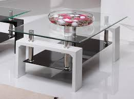 White Glass Coffee Table Calico Clear Glass Coffee Table