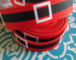 santa belt ribbon santa belt ribbon 7 8 grosgrain santa clause ribbon