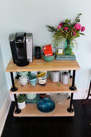 diy industrial pipe coffee cart