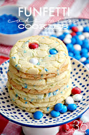 fourth of july cookies cake mix cookies the 36th avenue