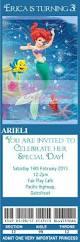 ariel little mermaid birthday invitations ticket style