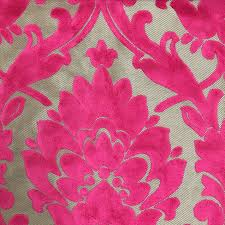 Traditional Upholstery Fabrics Radcliffe Damask Pattern Lurex Burnout Velvet Upholstery Fabric Bty