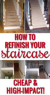 Restaining Banister Stair Handrail Refinishing Staircase Gallery