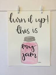 Kitchen Decor Collections This Is My Jam Single Watercolor And Lettered Kitchen Decor