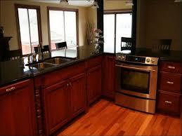 kitchen white kitchen cabinets with dark floors kitchen wall