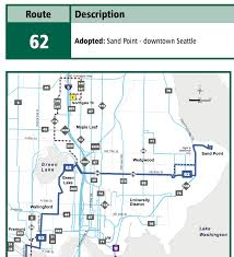 Seattle Bus Routes Map by Bus Metro 62 Route Map And Schedule Reroute Metro 62