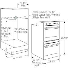 Wall Oven Cabinet Dimensions Wall Oven Cabinet Dimensions Width For