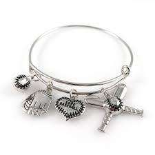 baseball jewelry baseball bangle bracelet raising a