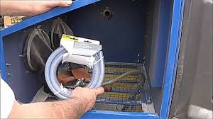 blast cabinet light kit sandblasting cabinet and install hose connections equipment youtube