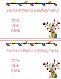 free printable christmas party invitations templates free