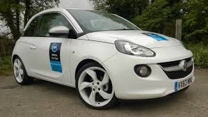 vauxhall white vauxhall adam full on the road review