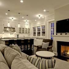 Kitchen Family Room Designs Kitchen Cozy Family Room Design Idea With Kitchen Also Warm