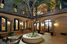 Interior Courtyard House Plans by Spanish Style House Plans With Central Courtyard