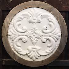 wood medallion wall attractive wood medallion wall white and antique