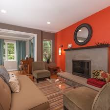 orange wall living room orange accent design pictures remodel decor and ideas