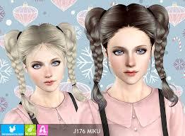 sims 3 custom content hair objnoora newsea sims3 hair j176 miku