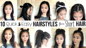 cute hairstyles for short hair quick 10 quick easy hairstyles for short hair how i style my short