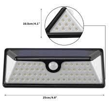 bright night solar lighting 73 leds solar motion sensor light 3 modes waterproof bright night
