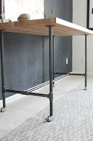 How To Build This Diy Workbench by How To Build A Workbench With Butcher Block And Pipe