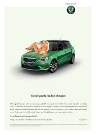 skoda print advert by selmore a real sports car but cheaper